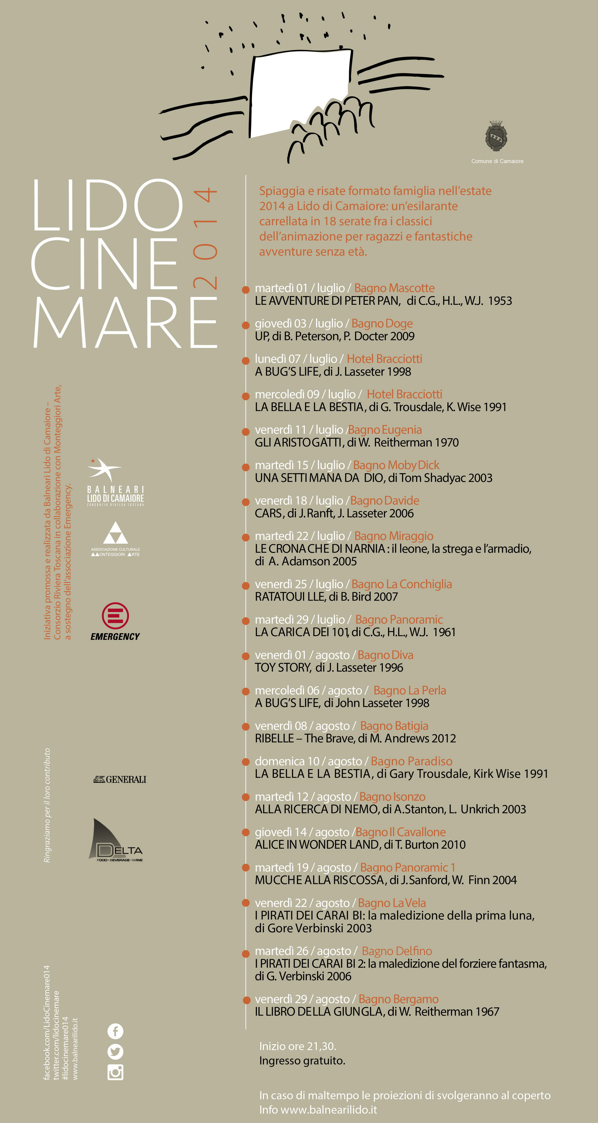 PROGRAMMA CINEMARE EDIZIONE 2015